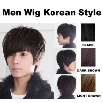 Korean Style Men Man Short Wigs Wig Cosplay Party Hair
